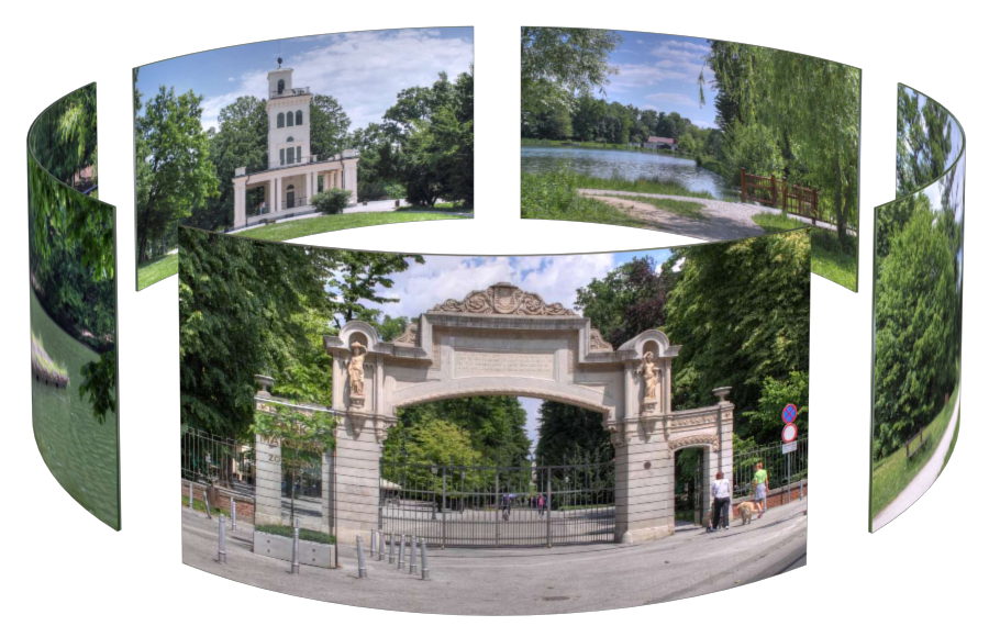 Maksimir Park in Zagreb in 3D