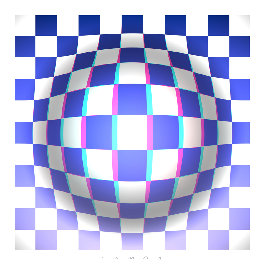 Op-Art in 3D Anaglyph
