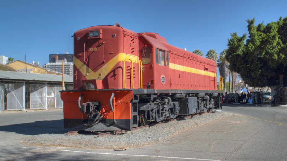 Trans Namib Train Station locomotive Windhoek