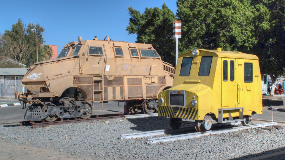 Trans Namib Train Station locomotives Windhoek